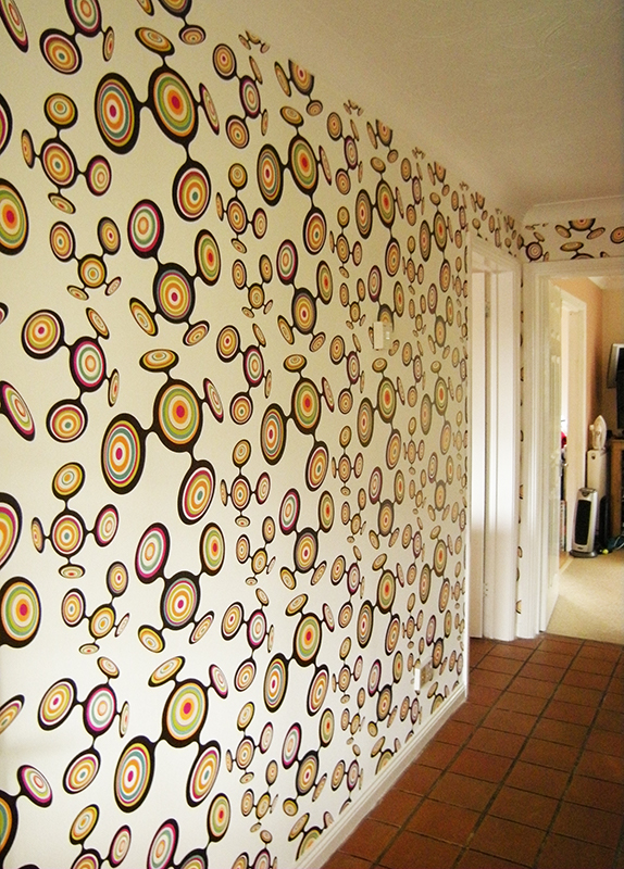Janet Carey wall papering
